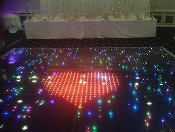 floor lights and heart