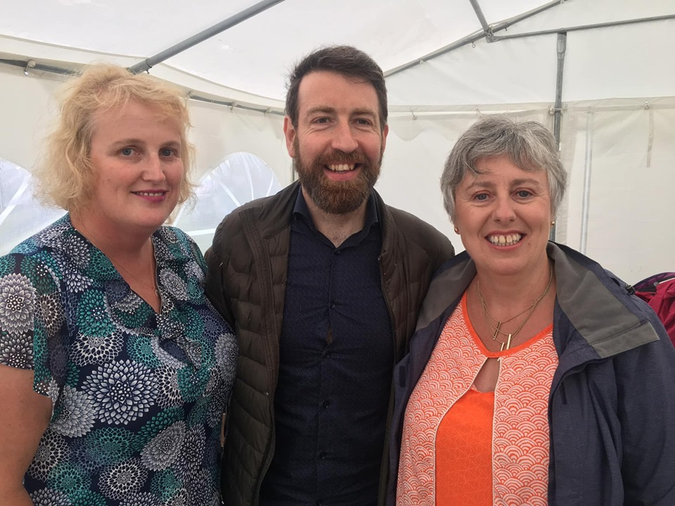 Colm O Regan with Maire and Catriona